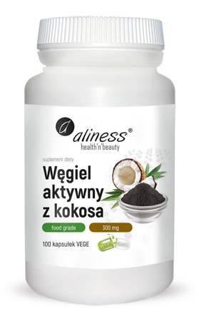 Aliness Aktywny Węgiel 300 mg 100 kapsułek vege