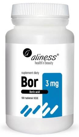 Aliness Bor 3 mg 100 tabletek vege