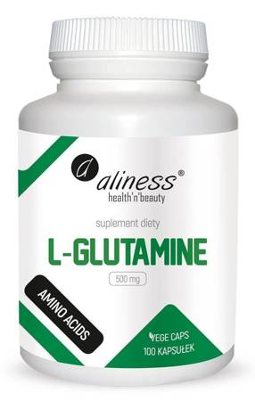 Aliness L-Glutamina 500 mg 100 kapsułek vege