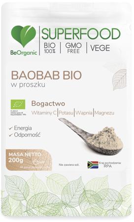BeOrganic Baobab BIO 200 g proszek