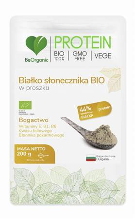 BeOrganic Białko Słonecznika BIO 200 g proszek