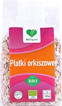 BeOrganic Płatki orkiszowe EKO 300 g