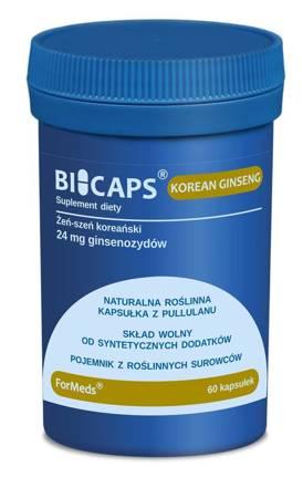 ForMeds BiCaps Żeń-szeń Koreański (Korean Ginseng) Extract 200 mg 60 kapsułek