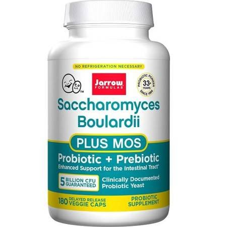 Jarrow Formulas Saccharomyces Boulardii + MOS 180 vege kapsułek