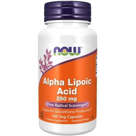 Now Foods ALA Kwas Alfa Liponowy 250 mg 120 kapsułek