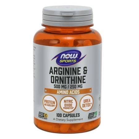 Now Foods Arginina i Ornityna 100 kapsułek
