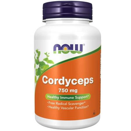 Now Foods Cordyceps 750 mg 90 kapsułek