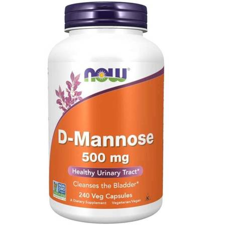 Now Foods D-Mannoza 500 mg 240 kapsułek