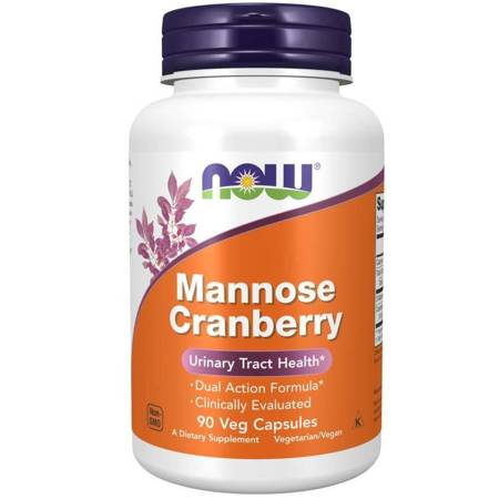 Now Foods D-Mannoza z Żurawiną (Mannose Cranberry) 90 kapsułek