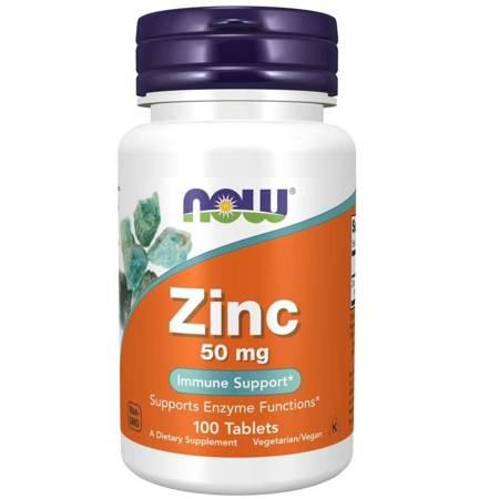 Now Foods Glukonian Cynku 50 mg 100 tabletek