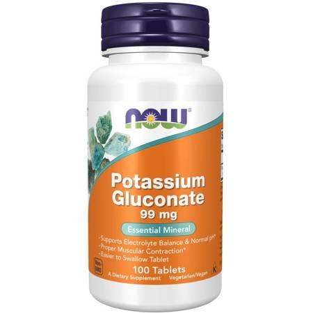 Now Foods Glukonian Potasu 99 mg 100 tabletek
