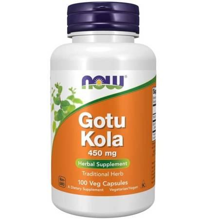 Now Foods Gotu Kola 450 mg 100 kapsułek