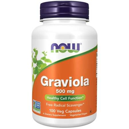 Now Foods Graviola 500 mg 100 kapsułek