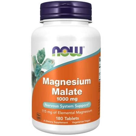 Now Foods Jabłczan Magnezu 1000 mg 180 tabletek