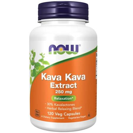 Now Foods Kava Kava 250 mg Extract 120 kapsułek