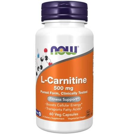Now Foods L-Karnityna 500 mg 60 veg kapsułek