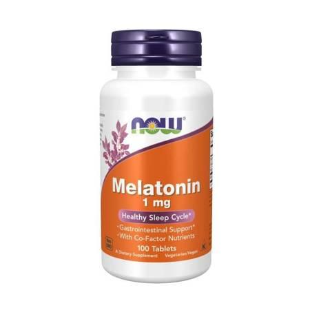 Now Foods Melatonina 1 mg 100 tabletek