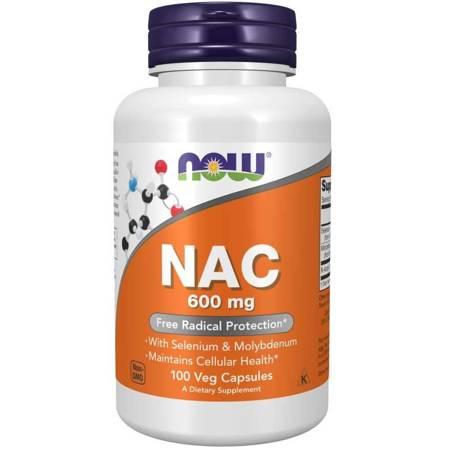 Now Foods N-Acetylo Cysteina (NAC) 600 mg 100 veg kapsułek