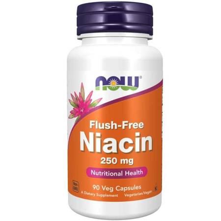 Now Foods Niacyna 250 mg Flush Free 90 veg kapsułek