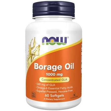 Now Foods Olej z Ogórecznika (Borage Oil) 1000 mg 60 żelków kapsułek