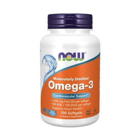 Now Foods Omega-3 100 kapsułek