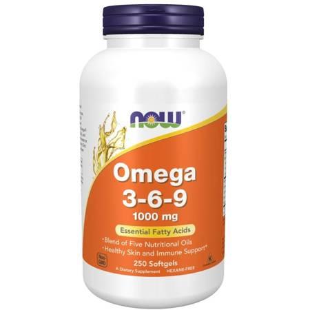 Now Foods Omega 3-6-9 1000 mg 250 kapsułek