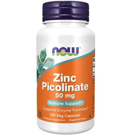 Now Foods Pikolinian Cynku 50 mg 120 kapsułek