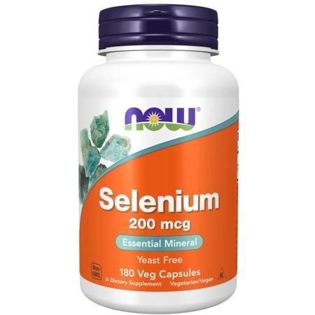 Now Foods Selenium 200 mcg 180 kapsułek