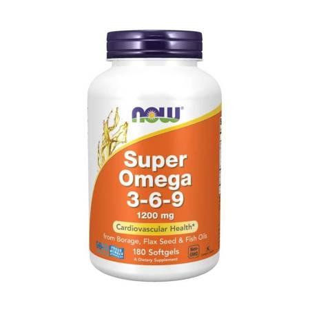 Now Foods Super Omega 3-6-9 1200 mg 180 kapsułek