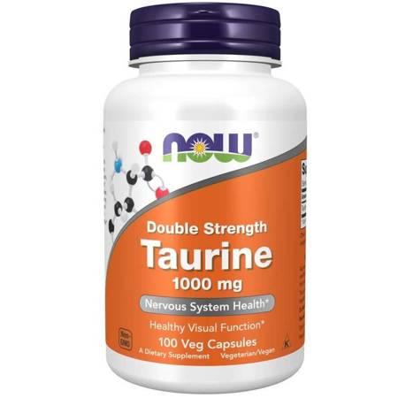 Now Foods Tauryna Double Strength 1000 mg 100 veg kapsułek