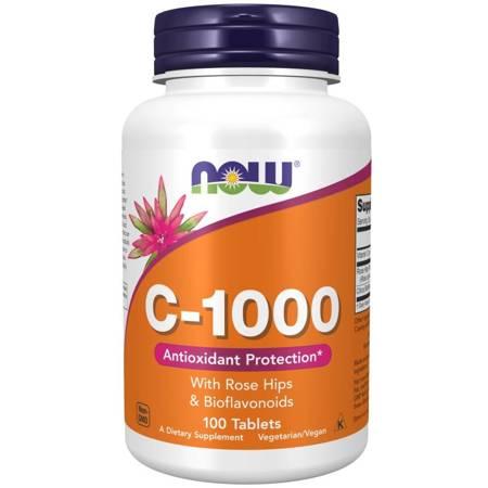 Now Foods Witamina C 1000 mg z Dziką Różą + Bioflawonoidy 100 tabletek