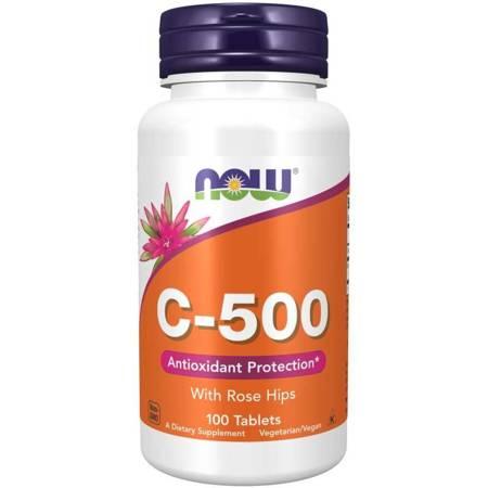 Now Foods Witamina C 500 mg z Dziką Różą 100 tabletek