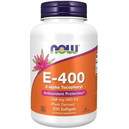 Now Foods Witamina E-400 (d-alfa-Tokoferyl) 250 kapsułek