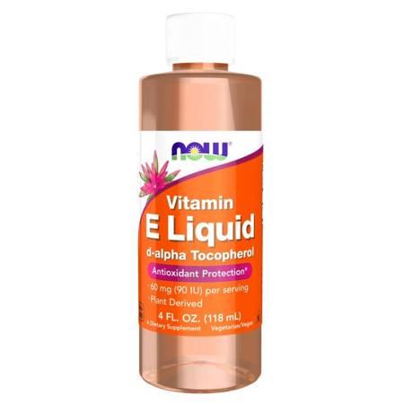 Now Foods Witamina E Naturalna Liquid 120 ml krolpe