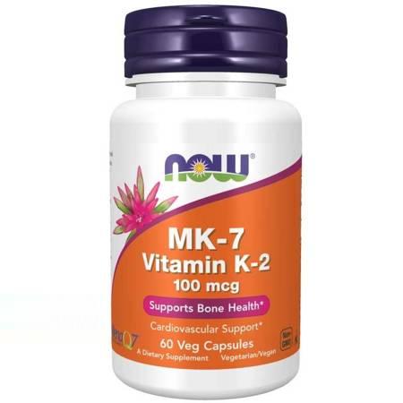 Now Foods Witamina K2 MK7 100 mcg 60 veg kapsułek
