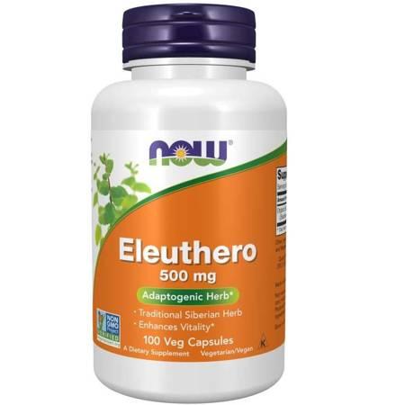 Now Foods Żeń-szeń Syberyjski (Eleuthero) 500 mg 100 kapsułek