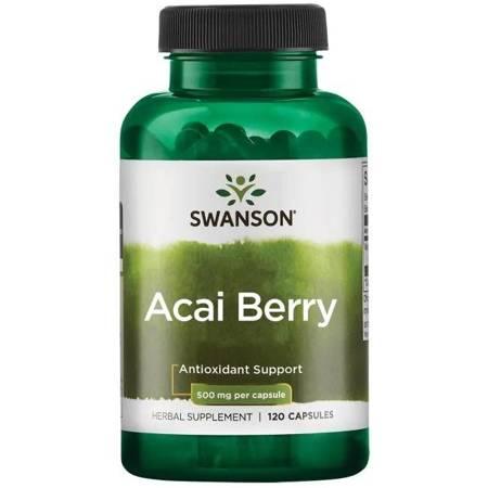 Swanson Acai Berry 500 mg 120 kapsułek