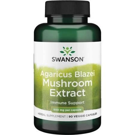 Swanson Agaricus Blazei Ekstrakt 500 mg 90 kapsułek