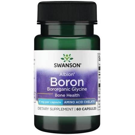 Swanson Albion Chelat Bor 6 mg 60 kapsułek