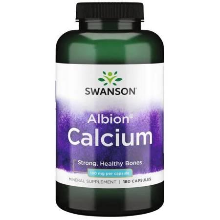 Swanson Albion Chelat Wapnia 180 mg 180 kapsułek