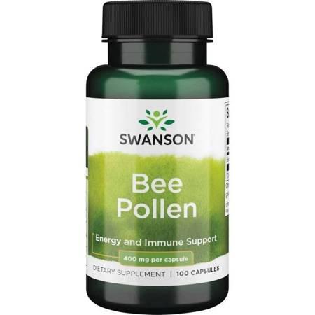 Swanson Bee Pollen (Pyłek Pszczeli) 400 mg 100 kapsułek