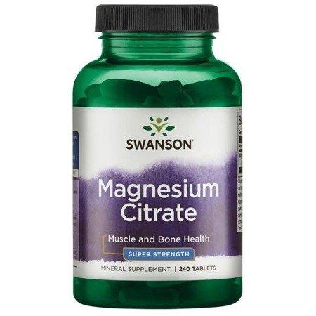 Swanson Cytrynian Magnezu 240 tabletek