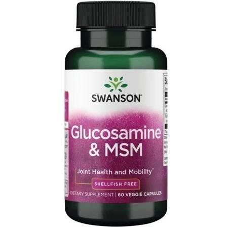 Swanson Glukozamina i MSM 60 kapsułek
