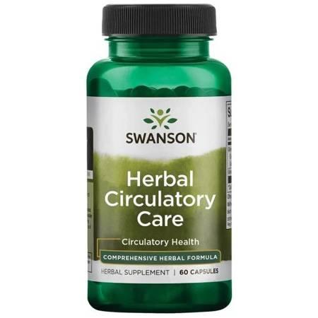 Swanson Herbal Circulatory (Ruszczyk, Głóg, Hesperydyna) 60 kapsułek