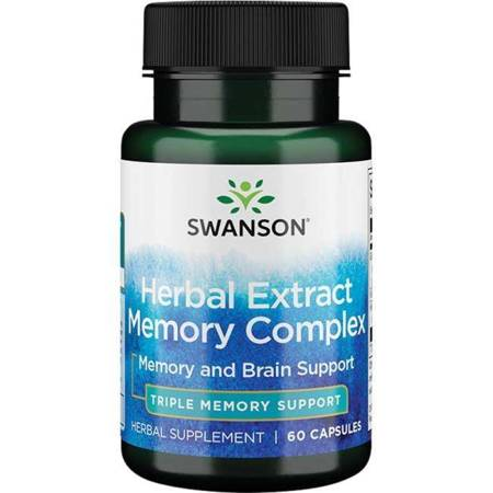 Swanson Herbal Extract Memory Complex 60 kapsułek