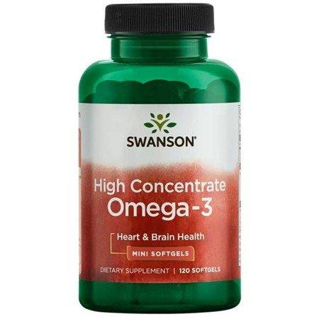 Swanson High Concentrate Omega-3 120 kapsułek