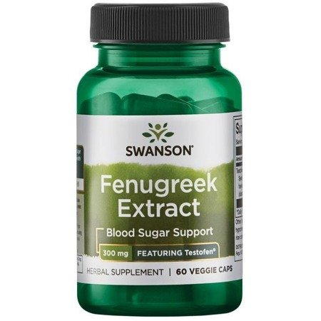Swanson Kozieradka (Fenugreek) Ekstrakt 300 mg 60 kapsułek