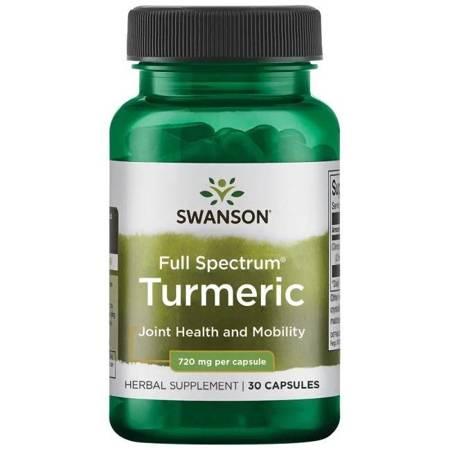 Swanson Kurkuma (Turmeric) 720 mg 30 kapsułek
