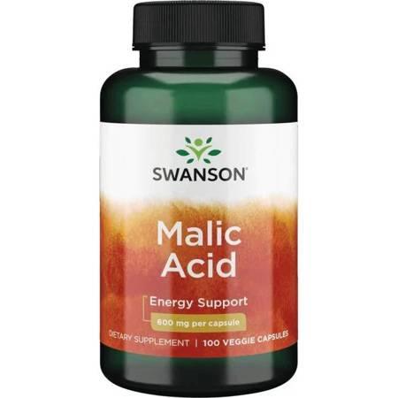 Swanson Kwas Jabłkowy (Malic Acid) 600 mg 100 kapsułek