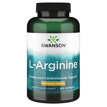 Swanson L-Arginina 500 mg 200 kapsułek